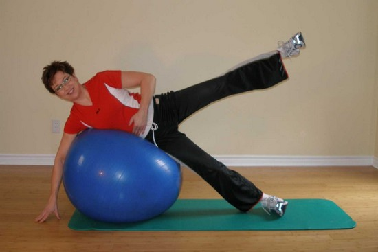 ball hip adductor exercises